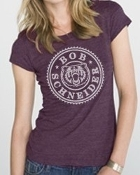 BEAR CIRCLE WOMEN'S DARK PURPLE TEE