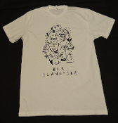 QUACKED-UP FACES MEN'S WHITE TEE